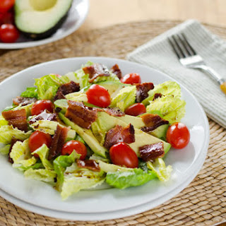 BLT Salad with Avocado and Chipotle Dressing.
