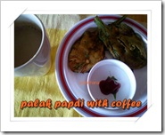 NOT yet 100's palk fritters with coffee