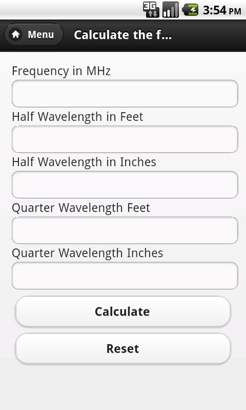 Antenna Calculator - screenshot