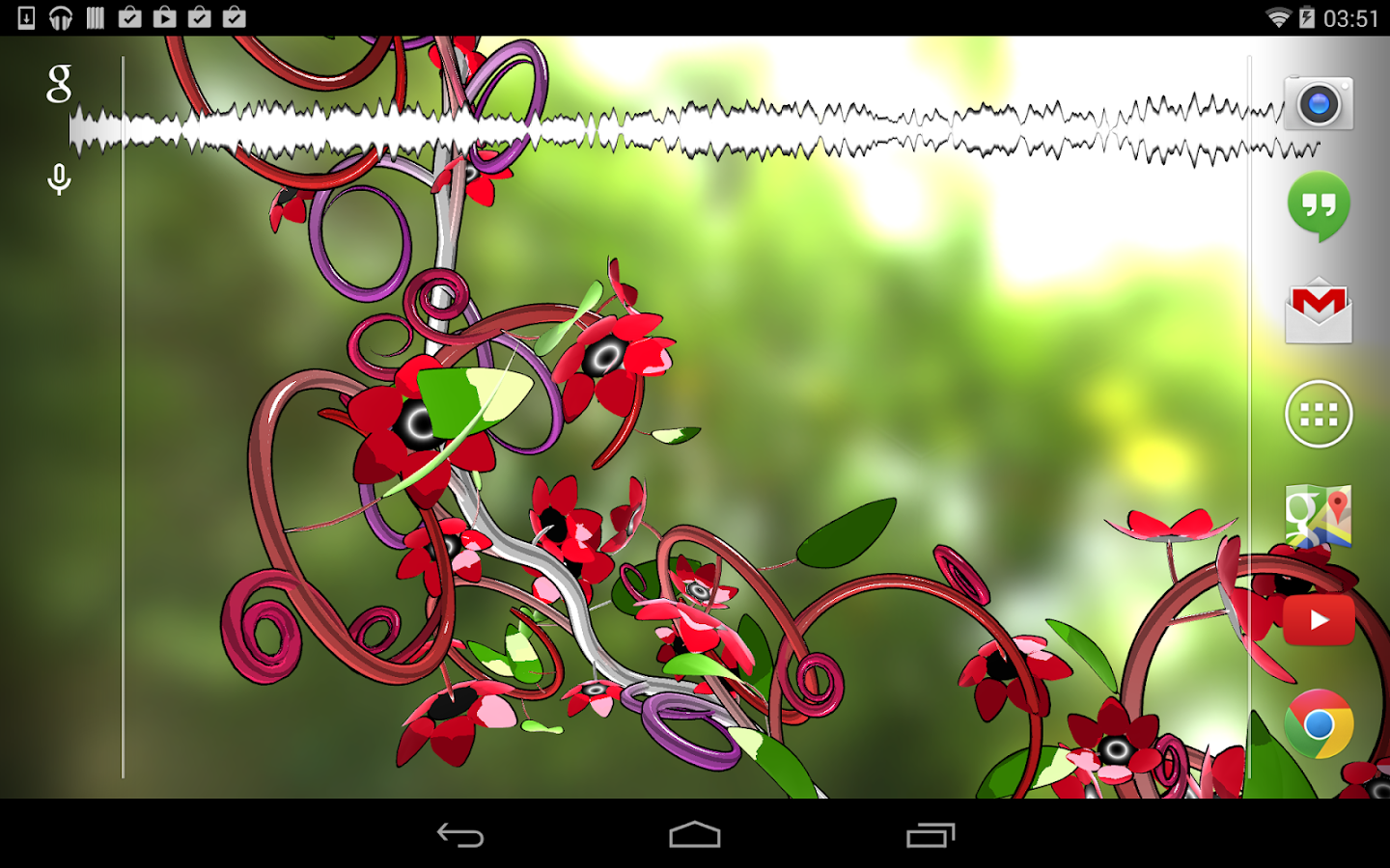 Jungle of Flowers 3D LWP - screenshot