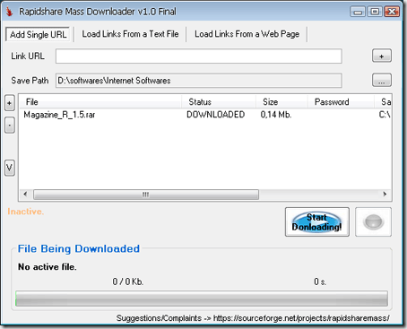rapidshare mass downloader