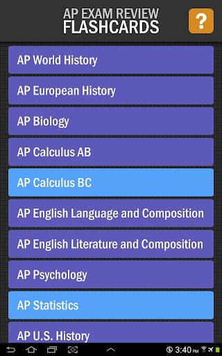 AP Exam Review Flashcards