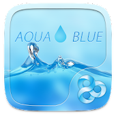 Aqua Blue GO Launcher Theme