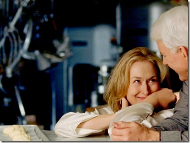 Meryl Streep & Steve Martin on the set of It's Complicated via bon appetite.