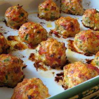 Baked Chicken Meatballs.