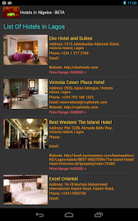 Hotels In Nigeria - screenshot thumbnail