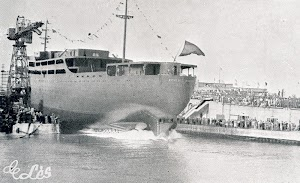 23 de octubre de 1954. Botadura de la motonave. Foto de la Memoria Corporativa. Año 1954.jpg
