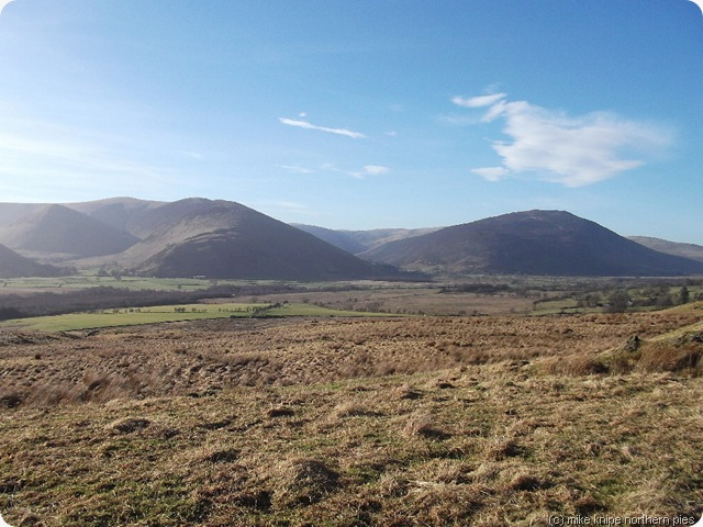 northern fells from eycott hill