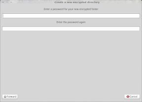 Create a new encrypted directory_012