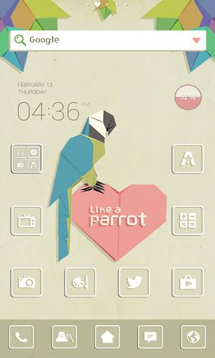 Parrot dodol launcher theme