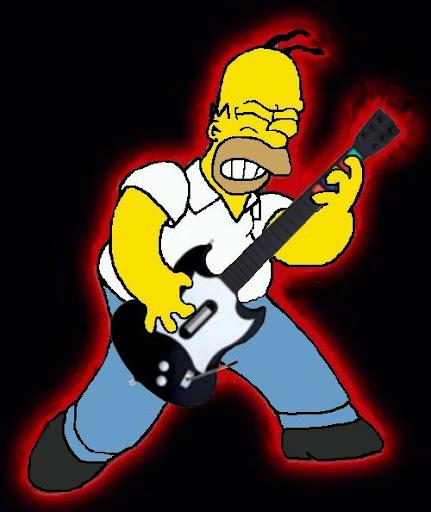Homero Simpson Rockero!