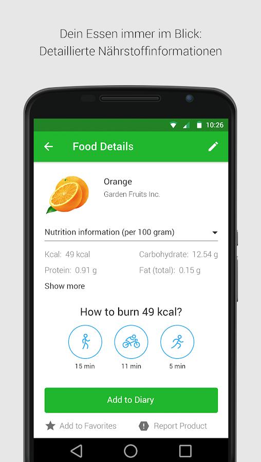 kalorien fett eiwei z hler android apps auf google play. Black Bedroom Furniture Sets. Home Design Ideas
