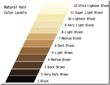 JULY - Natural hair color Levels 101