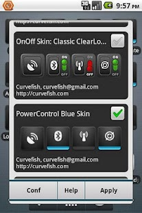 OnOff Skin: PowerControl Blue - screenshot thumbnail