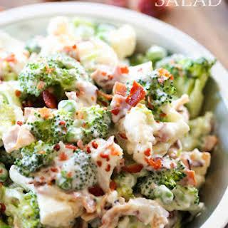 Broccoli Cauliflower Salad.