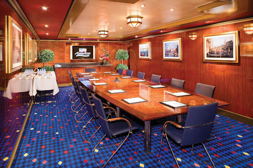 Norwegian-Jade-meeting-room - For guests who want to get some work done during their cruise, Norwegian Jade has rooms designed especially for business meetings and conferences.