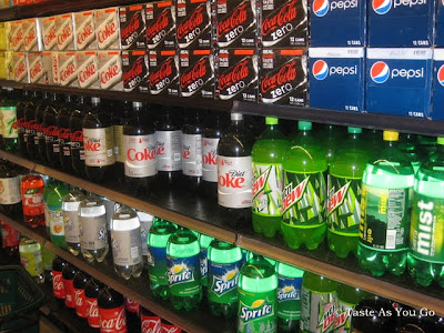 Soda Aisle in Food Cellar in Long Island City, NY | Taste As You Go