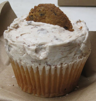 Cookie Dough Cupcake from Crumbs in New York, NY - Photo by Taste As You Go