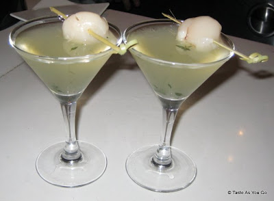 Lychee Martinis at the Foodbuzz Cocktail Party at David Burke Townhouse | Taste As You Go