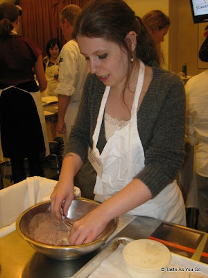 Very Small Anna Makes Streusel - Photo by Taste As You Go