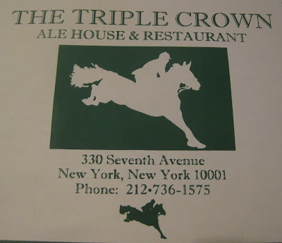 The Triple Crown Ale House & Restaurant in New York, NY - Menu Cover - Photo by Taste As You Go