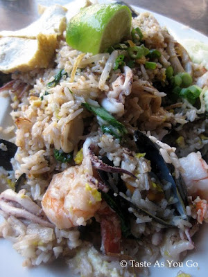Nasi Goreng with Seafood at Bentara in New Haven, CT - Photo by Taste As You Go