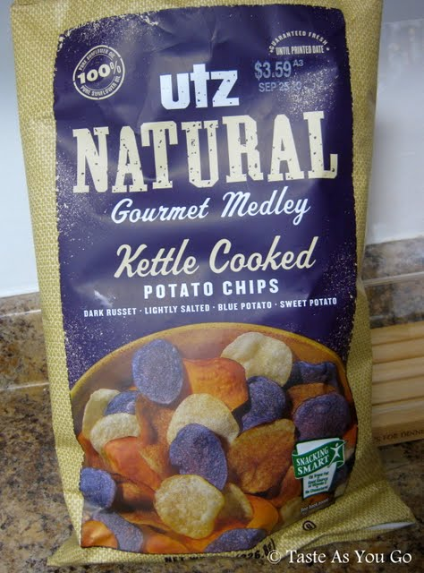 Utz Natural Gourmet Medley Kettle Cooked Potato Chips - Photo by Taste As You Go