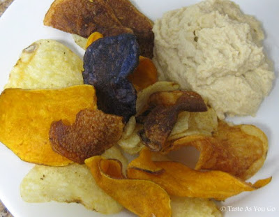 Potato Chips and Hummus - Photo by Taste As You Go