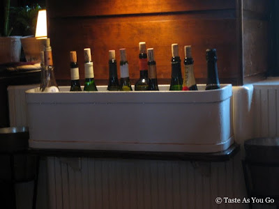 Window Boxes of Wine at The Standard Grill in New York, NY - Photo by Taste As You Go