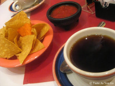 Chips, Salsa and Coffee at Mi Tierra Cafe & Bakery in San Antonio, TX - Photo by Taste As You Go