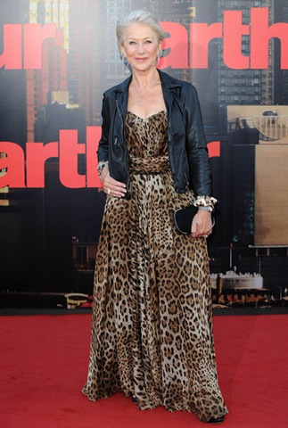 Helen Mirren attends the UK premiere of her new film Arthur
