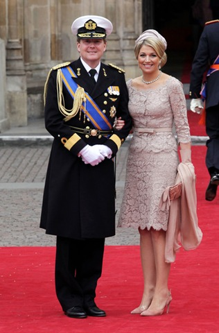 Princess Maxima Royal Wedding Arrivals