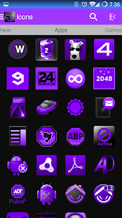 DeepPurple Icon Pack- screenshot thumbnail