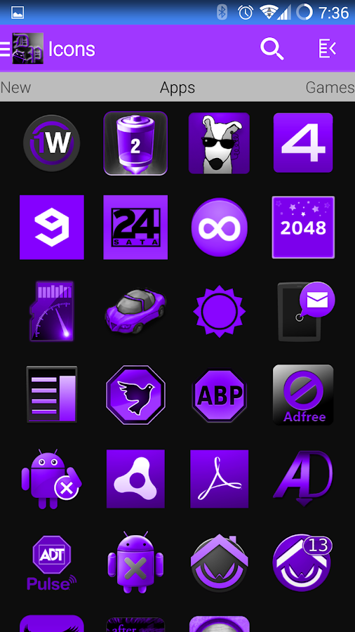 DeepPurple Icon Pack - screenshot