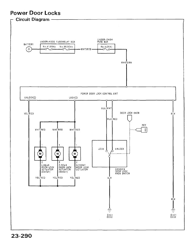 Eg6 Power Lock Wiring Diagram And Alarm Install
