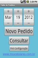 Screenshot of Talão de Pedidos