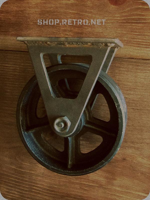 Antique Caster Wheel Vintage Industrial Furniture