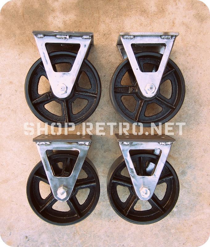 Mid Century Modern Caster Wheels
