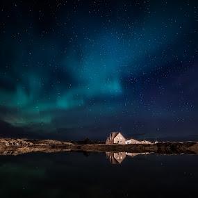 Artist Gallery Straumur by Guðmundur Hjörtur - Landscapes Starscapes ( iceland, gallery, northern lights, art, straumur )
