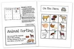 Animal Sorting Game Collage