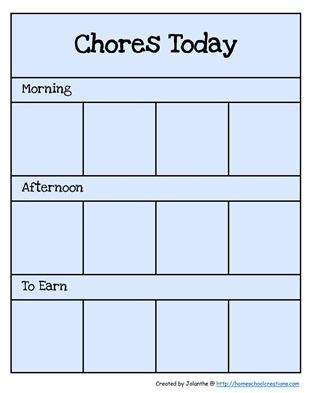 Preschool Chore Cards 1