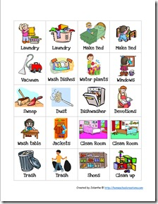 image regarding Printable Picture Chore Cards titled Preschool Chore Charts