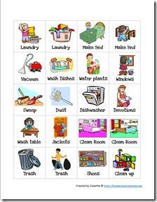 Preschool Chore Cards 2