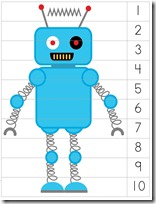Robot Preschool Pack Part 2 puzzle