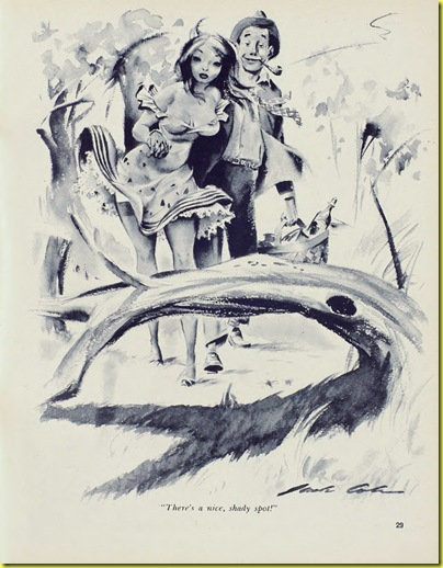 Playboy cartoon Jack Cole August 1954 b