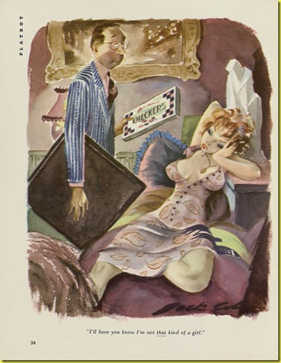 Playboy cartoon Jack Cole Oct 1954