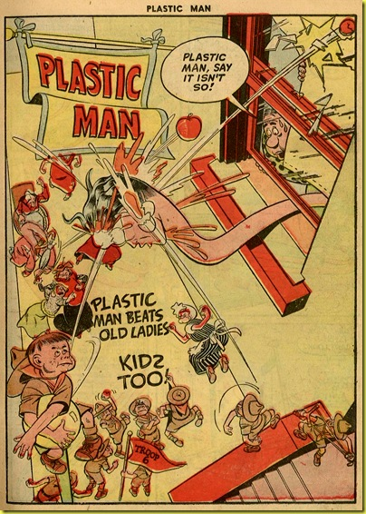 1_Plastic Man fights Boy Scouts issue 16 Jack Cole