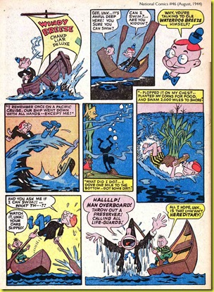 image: comic book cartoons of man in rowboat
