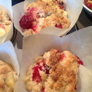 Apple Pie Scones with Cranberries