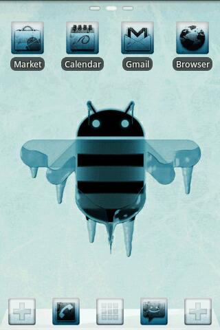 ICY GO Launcher Theme - screenshot